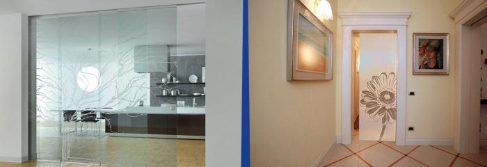 Decorazione sabbiatura vetri