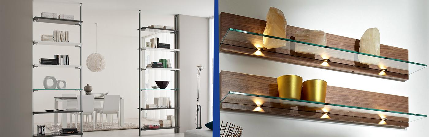 Mensole soggiorno vetro idee per interni e mobili for Mensole ikea vetro
