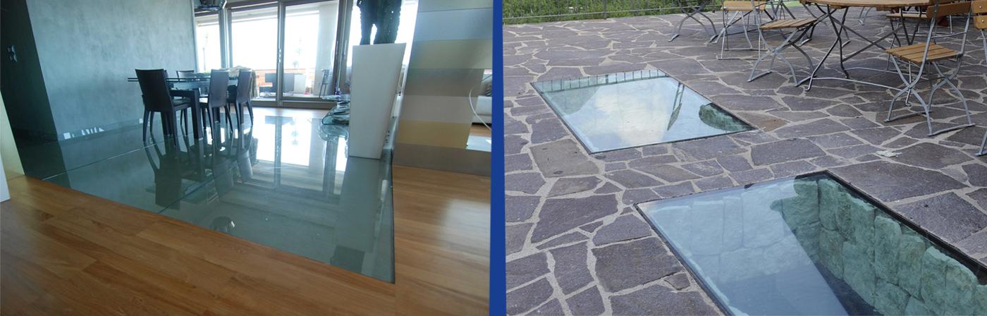 Realizzazione e vendita pavimenti in vetro su misura roma for Vetro sintetico su misura