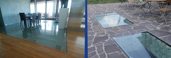 Pavimenti in vetro su misura