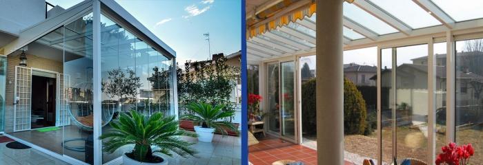 Vetri per balconi e terrazze