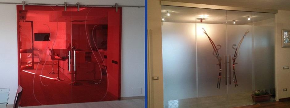 Porte Vetro Scorrevoli : Vendita porte scorrevoli vetro su misura roma esterno muro